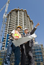 Developer and Foreman Royalty Free Stock Photo
