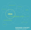 Developing a business plan shown in scheme development and planning Royalty Free Stock Photos
