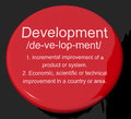 Development Definition Button Stock Photography