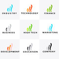 Development, education, communication, marketing, high tech, finance, industry , business logo Royalty Free Stock Photo