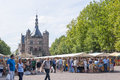 The deventer book market in the netherlands on august the brink plaza crowded with people and book stands Royalty Free Stock Photo