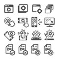 Application icon set Royalty Free Stock Photo
