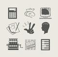 Devices for calculation set icon Royalty Free Stock Image