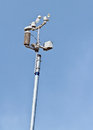 Devices meteorological station on the blue background of the sky Royalty Free Stock Photos