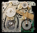 Devices and old vhs mechanical videotape player will not work then Royalty Free Stock Image