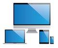 Devices set, laptop, pc, tablet, smartphone