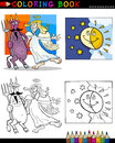 Devil and angel for coloring Royalty Free Stock Images
