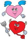 Devil and angel heart Royalty Free Stock Images