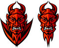 Devil / Demon Mascot Vector Logo Royalty Free Stock Photo