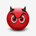 stock image of  Devil emoticon isolated on white background - emoji - illustration