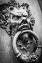 Devil Head Door Knocker Stock Images