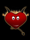 Devil heart Stock Image