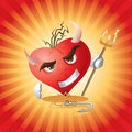 Devil Heart Royalty Free Stock Photo