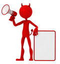 Devil holding a blank sign Stock Photos