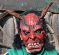 Devil mask south bohemia czech republic Royalty Free Stock Photography