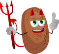 Devil potato with attitude vector style illustrated vector format is available Royalty Free Stock Images