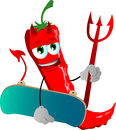 Devil Red Hot Chili Pepper Wit...
