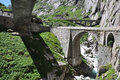 Devil s bridge st gotthard pass switzerland Stock Photo