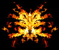 Devil's fire mask Royalty Free Stock Photo