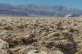 Devil s golfcourse in death valley usa the rugged terrain of the golf course national park california Stock Photo