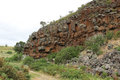 Devil s kitchen near creswick is a steep sided gorge of basalt cliffs flanking the woady yaloak river piggoreet victoria australia Royalty Free Stock Photography