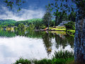 Devil's Lake Lincoln City Oregon Royalty Free Stock Photo