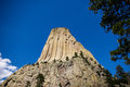 Devil s tower rises out of the wyoming prairie Royalty Free Stock Photo