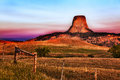 Devil's Tower at Sunrise Royalty Free Stock Image