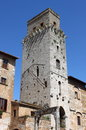 Devil tower in san gimignano tuscany italy Stock Images