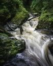 Devil& x27;s falls, Wales,UK Royalty Free Stock Photo