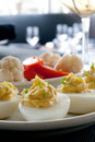 Deviled egg appetizer Royalty Free Stock Photo