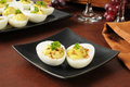 Deviled egg in the half shell Stock Photography