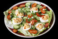 Deviled egg salad from a above Royalty Free Stock Image