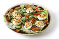Deviled egg salad from a above Royalty Free Stock Photography