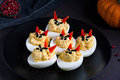 Deviled eggs, party snack Royalty Free Stock Photo