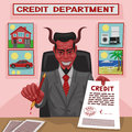 Devilish credit. Stock Image
