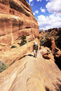 The Devils Garden Trail in Arches National Park Royalty Free Stock Photos