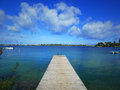 Devils hole dock public on harrington sound bermuda Royalty Free Stock Photos