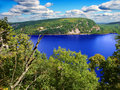 Devils lake state park wisconsin beautiful view of in Stock Image