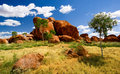 Devils Marbles Stock Photo