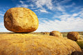 Devils marbles the in the northern territory of australia are a geological marvel Royalty Free Stock Image