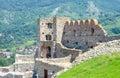 Devin castle på bakgrunden av kullen bratislava slovakien Arkivfoton