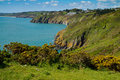 The Devon coastline looking towards Slapton Sands Royalty Free Stock Photo