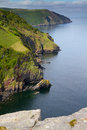 Devon coastline from the Valley of Rocks Lynton Stock Photo