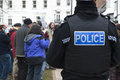 A Devon & Corwall police watches the Occupy Exeter Stock Photography
