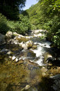 A devon stream the lyn valley england Stock Images