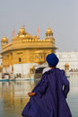 A devotee of the golden temple of amritsar punjab india Royalty Free Stock Image