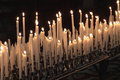 Devotion candles Royalty Free Stock Photo