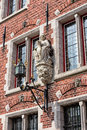 Devotion in medieval bruges detail of the old city of belgium Royalty Free Stock Images