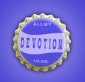 Devotion Themed Bottlecap Stock Photo